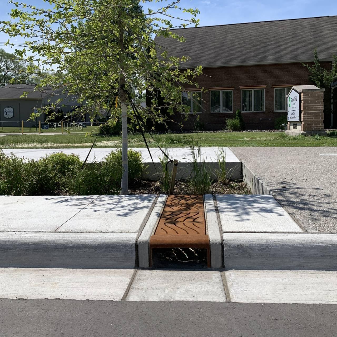 Sidewalk Cast Iron Curb Opening