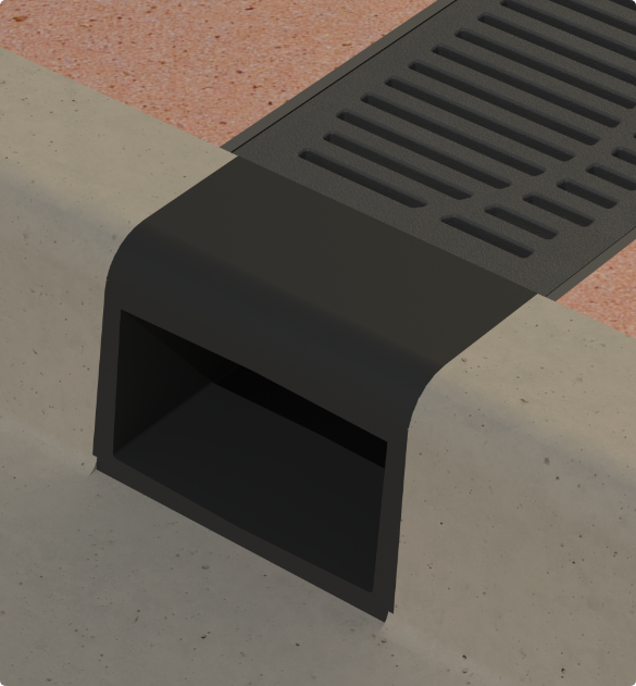Black Cast Iron Curb Opening