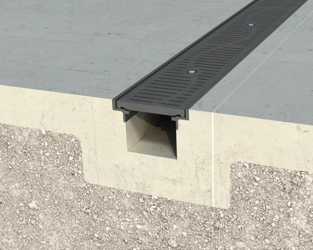Gray Angle Framed T-08 Trench Drain