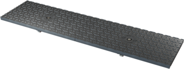 Black Solid Cover Trench Grate